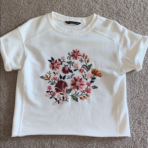 Cropped Abercrombie Floral tee